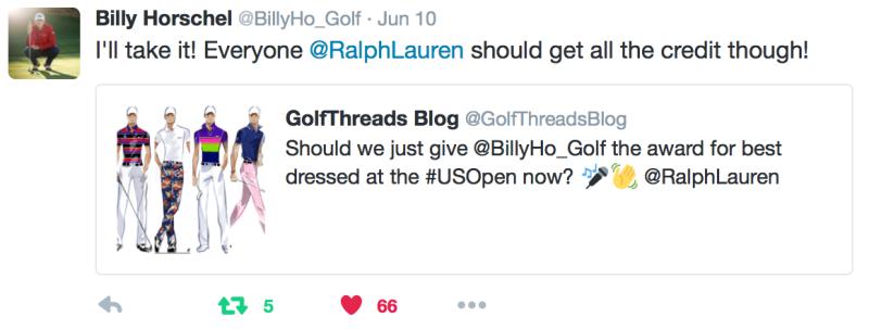 Horschel GolfThreads Tweet